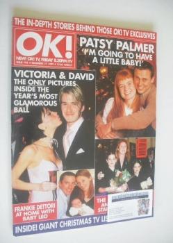 OK! magazine - David Beckham and Victoria Beckham cover (17 December 1999 - Issue 192)