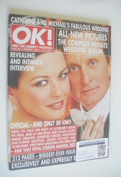<!--2000-12-02-->OK! magazine - Michael Douglas and Catherine Zeta Jones we
