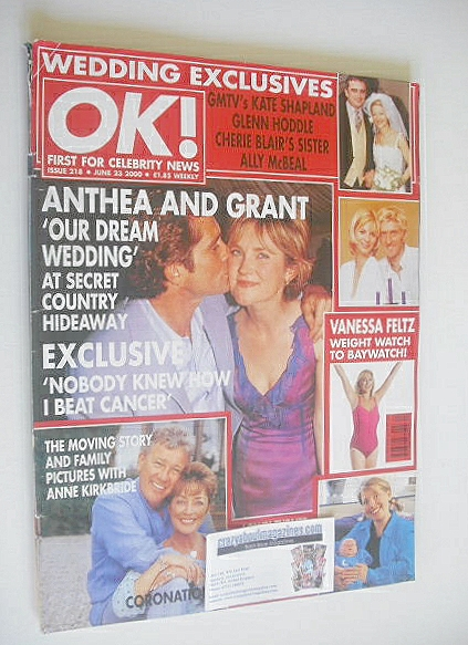 <!--2000-06-23-->OK! magazine - Anthea Turner and Grant Bovey cover (23 Jun