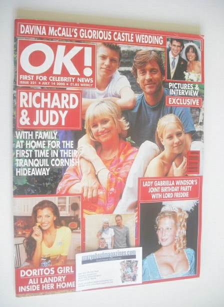 <!--2000-07-14-->OK! magazine - Richard Madeley and Judy Finnigan and famil