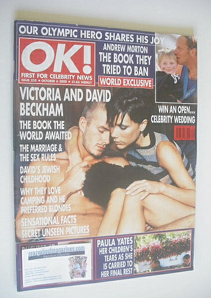 <!--2000-10-06-->OK! magazine - David Beckham and Victoria Beckham cover (6