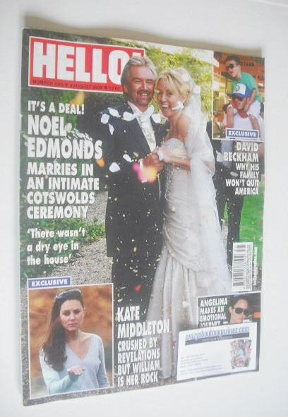<!--2009-08-03-->Hello! magazine - Noel Edmonds wedding cover (3 August 200
