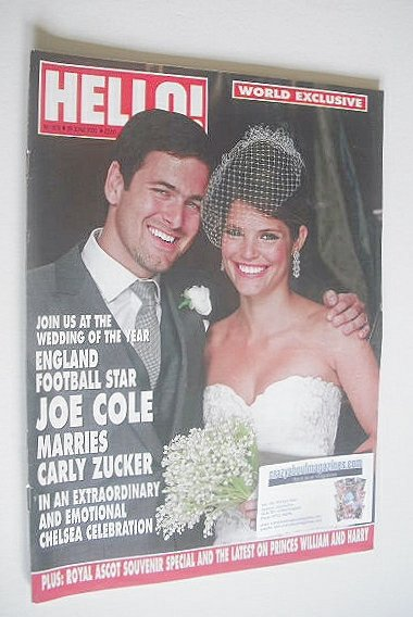 <!--2009-06-29-->Hello! magazine - Joe Cole and Carly Zucker wedding cover
