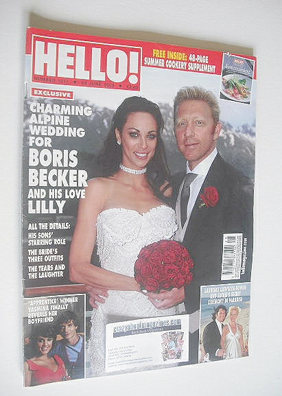 <!--2009-06-22-->Hello! magazine - Boris Becker and Lilly Kerssenberg cover