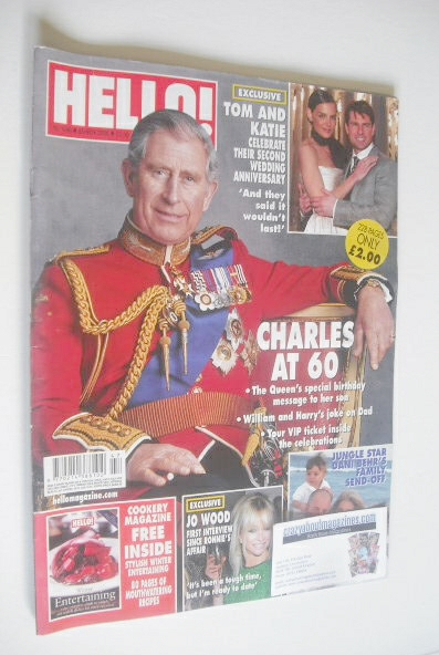 <!--2008-11-25-->Hello! magazine - Prince Charles cover (25 November 2008 -