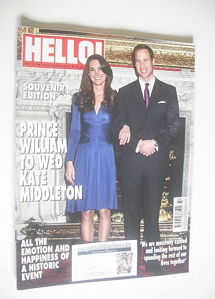 <!--2010-11-29-->Hello! magazine - Prince William to Wed Kate Middleton Sou