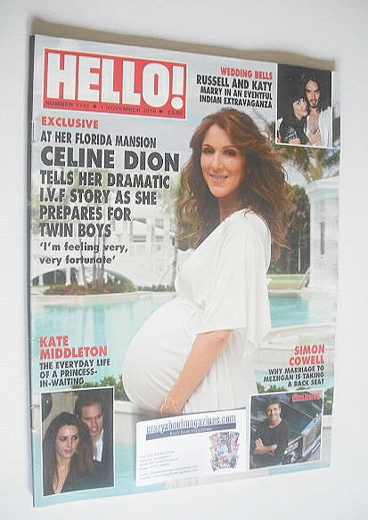 <!--2010-11-01-->Hello! magazine - Celine Dion cover (1 November 2010 - Iss