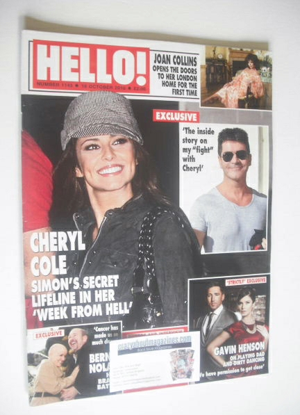 <!--2010-10-18-->Hello! magazine - Cheryl Cole cover (18 October 2010 - Iss