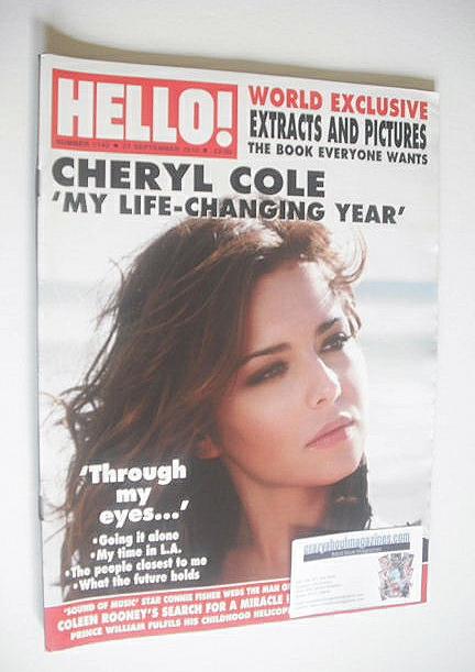 <!--2010-09-27-->Hello! magazine - Cheryl Cole cover (27 September 2010 - I