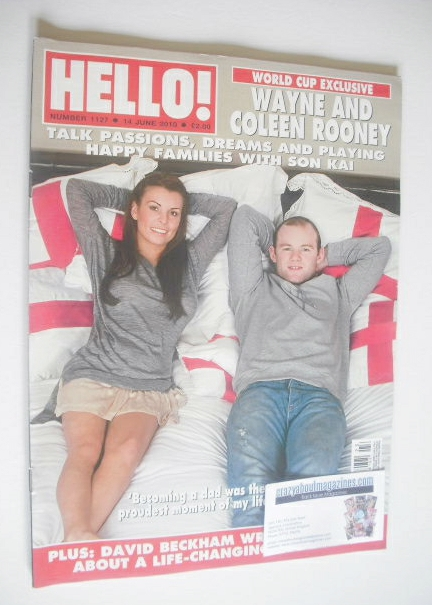 <!--2010-06-14-->Hello! magazine - Wayne Rooney and Coleen Rooney cover (14