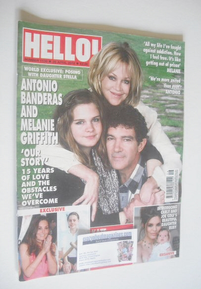 <!--2010-04-26-->Hello! magazine - Antonio Banderas and Melanie Griffith co