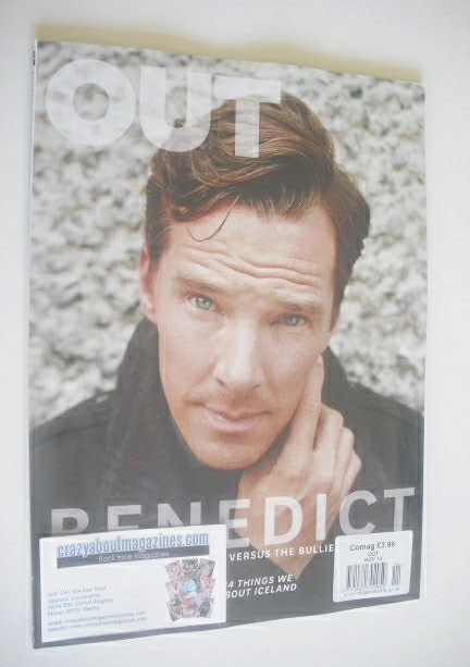 <!--2014-11-->Out magazine - Benedict Cumberbatch cover (November 2014)