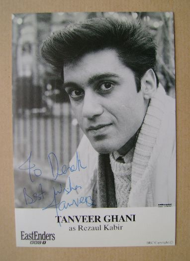 Tanveer Ghani autographed photo (ex-EastEnders actor)