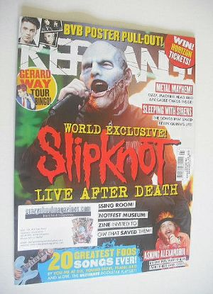 <!--2014-11-08-->Kerrang magazine - Slipknot cover (8 November 2014 - Issue