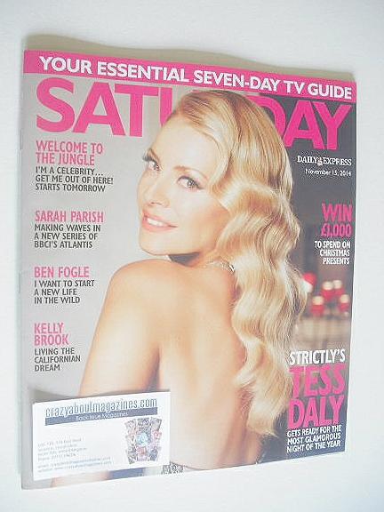 <!--2014-11-15-->Saturday magazine - Tess Daly cover (15 November 2014)