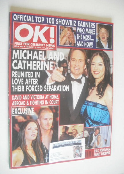 <!--2001-02-02-->OK! magazine - Michael Douglas and Catherine Zeta Jones co