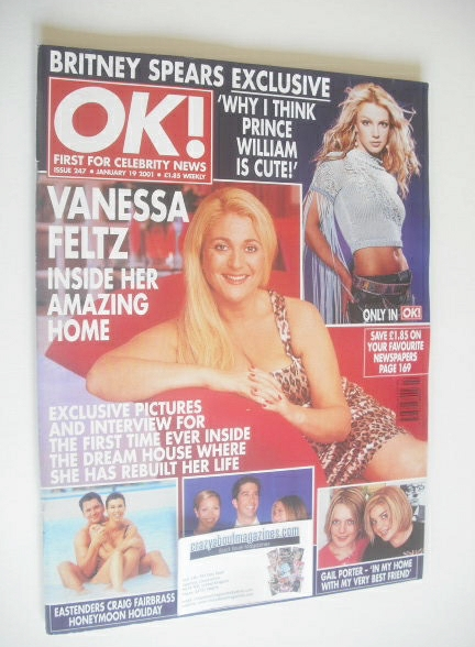 <!--2001-01-19-->OK! magazine - Vanessa Feltz cover (19 January 2001 - Issu