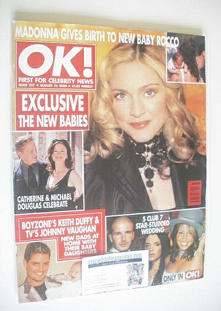 <!--2000-08-25-->OK! magazine - Madonna cover (25 August 2000 - Issue 227)