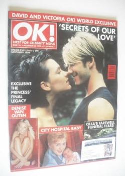 OK! magazine - David Beckham and Victoria Beckham (12 November 1999 - Issue 187)
