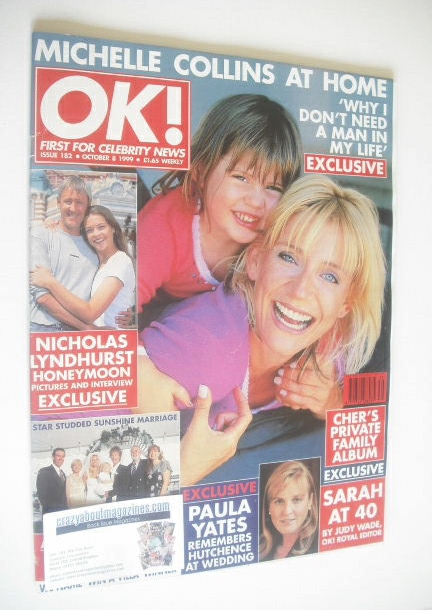 <!--1999-10-08-->OK! magazine - Michelle Collins cover (8 October 1999 - Is