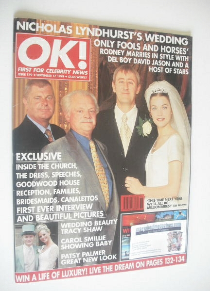 <!--1999-09-17-->OK! magazine - Nicholas Lyndhurst wedding cover (17 Septem