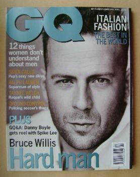 British GQ magazine - April 1996 - Bruce Willis cover