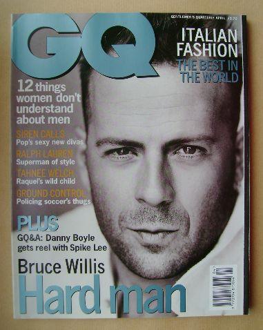<!--1996-04-->British GQ magazine - April 1996 - Bruce Willis cover