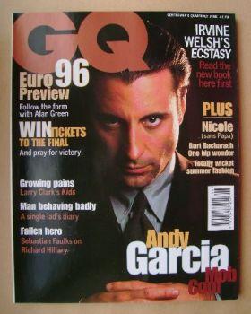 British GQ magazine - June 1996 - Andy Garcia cover