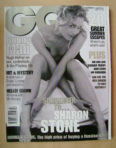 <!--1996-07-->British GQ magazine - July 1996 - Sharon Stone cover