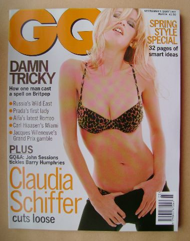 <!--1996-03-->British GQ magazine - March 1996 - Claudia Schiffer cover