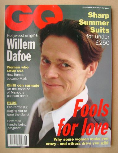 <!--1994-05-->British GQ magazine - May 1994 - Willem Dafoe cover