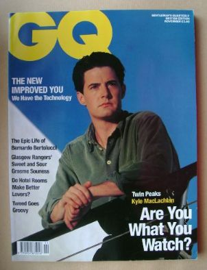 <!--1990-11-->British GQ magazine - November 1990 - Kyle MacLachlan cover