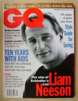 British GQ magazine - March 1994 - Liam Neeson cover
