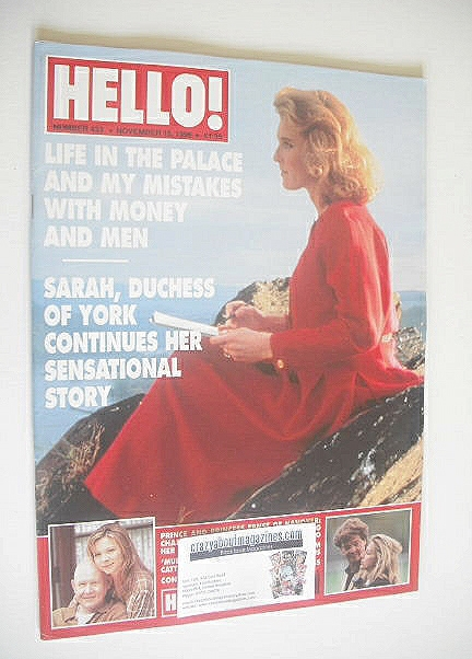 <!--1996-11-16-->Hello! magazine - The Duchess of York cover (16 November 1