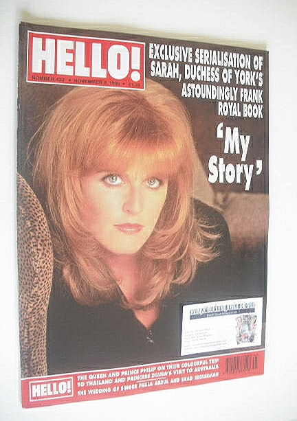 <!--1996-11-09-->Hello! magazine - The Duchess of York cover (9 November 19