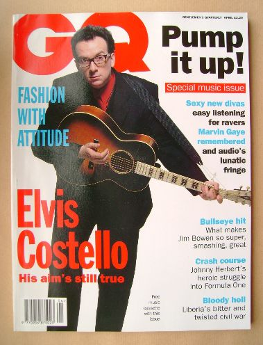 <!--1994-04-->British GQ magazine - April 1994 - Elvis Costello cover