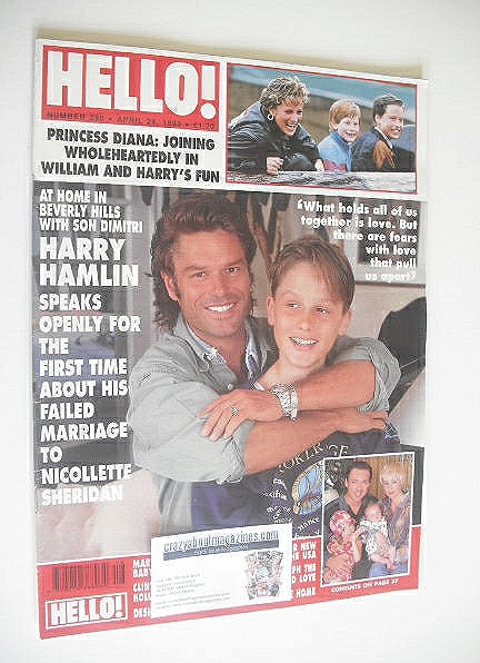 <!--1993-04-24-->Hello! magazine - Harry Hamlin cover (24 April 1993 - Issu