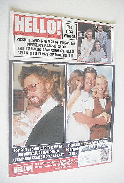 <!--1992-04-25-->Hello! magazine - Barry Gibb cover (25 April 1992 - Issue