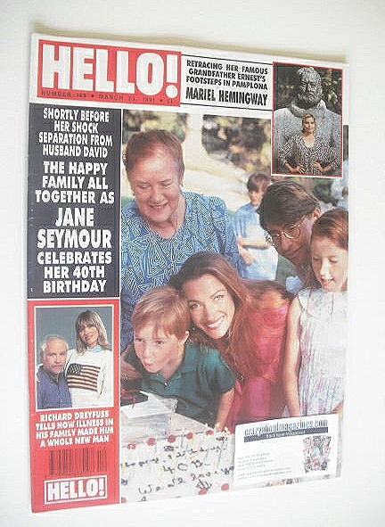 <!--1991-03-23-->Hello! magazine - Jane Seymour cover (23 March 1991 - Issu
