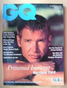 British GQ magazine - October 1990 - Harrison Ford cover