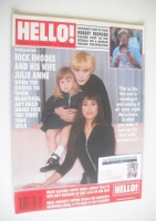 <!--1990-02-17-->Hello! magazine - Nick Rhodes and Julie Anne Rhodes cover (17 February 1990 - Issue 90)