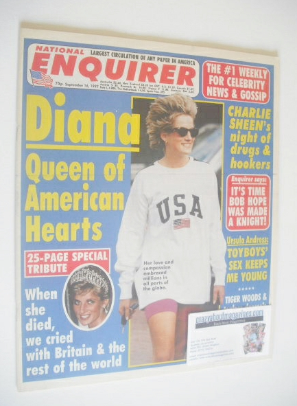 <!--1997-09-16-->National Enquirer magazine - Princess Diana cover (16 Sept