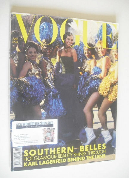 <!--1990-06-->British Vogue magazine - June 1990 - Christy Turlington cover