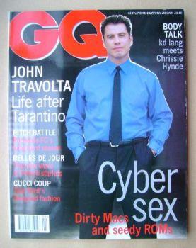 British GQ magazine - January 1996 - John Travolta cover