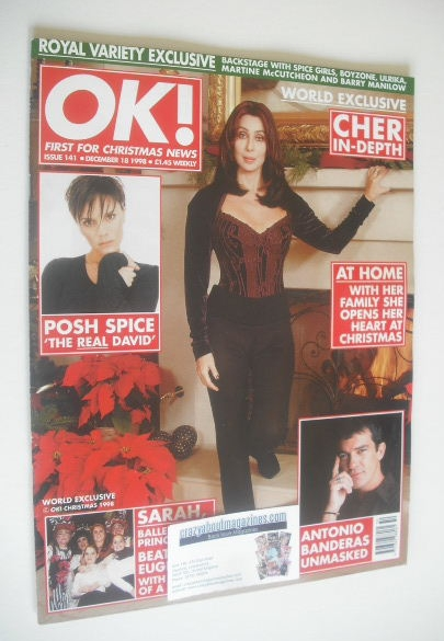 <!--1998-12-18-->OK! magazine - Cher cover (18 December 1998 - Issue 141)