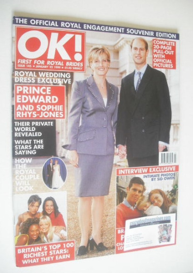 <!--1999-01-22-->OK! magazine - Prince Edward and Sophie Rhys-Jones cover (