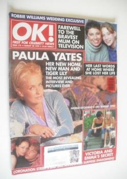 OK! magazine - Paula Yates cover (20 August 1999 - Issue 175)