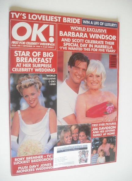 <!--1999-09-24-->OK! magazine - Barbara Windsor cover (24 September 1999 -