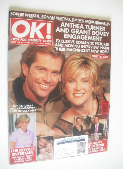 <!--1999-10-15-->OK! magazine - Anthea Turner and Grant Bovey cover (15 Oct