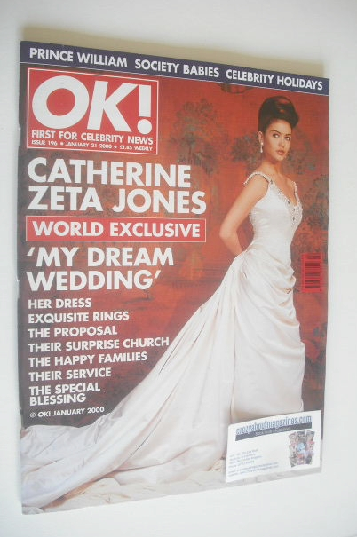 <!--2000-01-21-->OK! magazine - Catherine Zeta Jones cover (21 January 2000